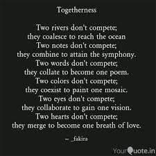 Togetherness Two Rivers Quotes Writings By Sai Manohar