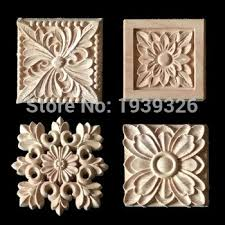 wood appliques for furniture. Contemporary Furniture 1 Flower Wood Carving Natural Appliques For Furniture Cabinet  Unpainted Wooden Mouldings Decal Decorative Figurines Intended For