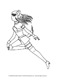 Running Zakuro Fujiwara Coloring Page More
