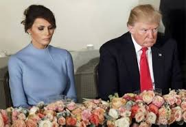 Image result for Picture of Melania Trump unhappy