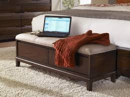 Bedroom Bench Storage Bedroom Benches Nspire Fabric Bench With Nailhead Detailing