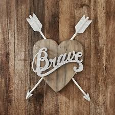 on wall art heart designs with junk gypsy brave heart wall d cor pbteen
