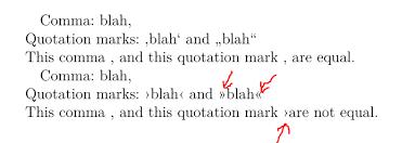 Punctuation Quotation Marks Look Like Commas Tex Latex