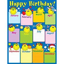 Carson Dellosa Smiley Face Birthday Chart 6290