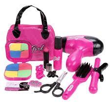 makeup set for kids. kid girl pretend play makeup bag kit gift education learning toy hair dryer brush set for kids g