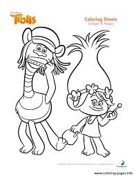Small Picture Print cooper and poppy trolls coloring pages kolorowanki