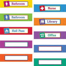 Hall Passes For School Magnetic Hall Passes Set Of 10 Beginning End Of Year Pinterest