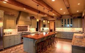 warm gray kitchen brown backsplash tiles