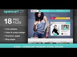 Video Website Template Amazing RGen OpenCart Modern Store Design PSD Themeforest Website