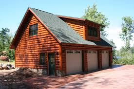 Free garage building plans detached wholesale Car Garage Log Cabin Garage With Lofts Garage With Hand Scribe Log Siding There Is Complete Game Room Loft Dc Structures Log Cabin Garage With Lofts Garage With Hand Scribe Log Siding