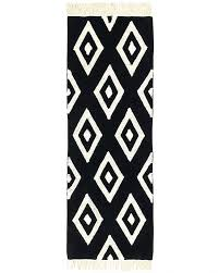 small size of black and white damask runner rug black and white geometric runner rug black
