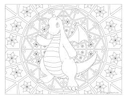 Small Picture 149 Dragonite Pokemon Coloring Page Windingpathsartcom