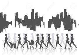 People Walking Design Vector Illustration Eps10 Graphic