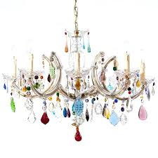 beautiful 8 light twig hanging colorful chandelier crystal colorful chandelier home improvement coloured