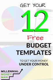 Online Budgeting 12 Free Budget Templates To Get Your Money Under Control