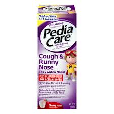 Pediacare Cough Runny Nose Cherry 4 Fl Oz From Stater