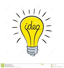 Light Bulb Word Art Light Bulb With Word Idea Stock Vector Illustration Stock
