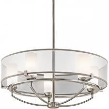 saldana modern pewter drum pendant ceiling light with 5 bulbs