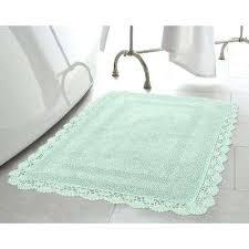 aqua bathroom rugs crochet cotton in x in bath rug in aqua aqua and gray bath rugs