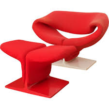 artifort ribbon chair with ottoman by pierre paulin 1960s