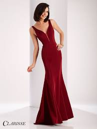 Clarisse Elegant V Neck Satin Prom Dress 3153 Dresses