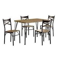 stasel 5 piece grey and dark bronze dining set 6 furniture