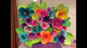 How To Make Paper Flower Backdrop Diy Paper Flower Backdrop Part 1 2 Youtube