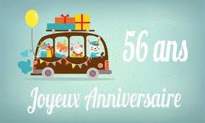 carte anniversaire 56 ans femme