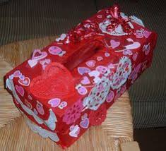 A homemade Valentines box for