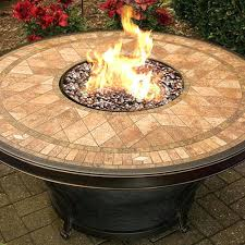 48 fire pit fire pit table w inch round tile top tuscany 48 round enclosed gas