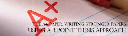 3 parts of a thesis statement