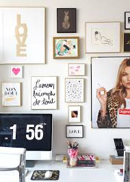 gallery inspiration ideas office. workspace inspiration gallery wall art via madebygirlcom print lu0027amour ideas office
