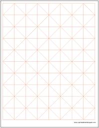 Axonometric Graph Paper Template Spreadsheetshoppe