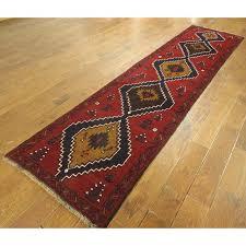 baluch geometric red runner rug 2395 x 93910 chairish black and white geometric runner rug