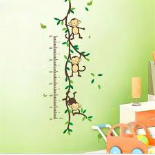 Kindergarten Height Chart Cute Cartoon Monkey Baby Child Growth Height Chart Wall Sticker Kindergarten