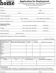 Free Blank Employment Application Aapkirasoi Co