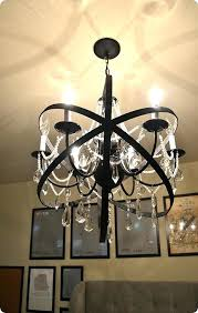 chandeliers crystal orb chandelier home decor restoration hardware knock off made with a plain crystals
