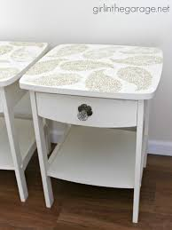 paisley furniture. Pretty In Paisley {Romance Themed Furniture Makeover}: A Pair Of Plain Tables Gets