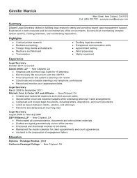 Secretary Resume Templates Interesting Secretary Resume Best Legal Secretary Resume Example Legal Secretary