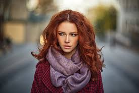 Tapety Tvář ženy Venku Ryšavý Model Portrét Hloubka Pole