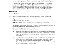 Document Template : Free Unilateral Non Disclosure Agreement Office ...