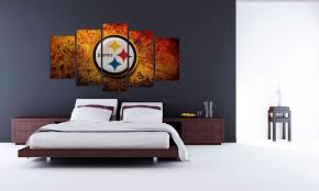 Steelers Bedroom Pittsburgh Steelers 5 Piece Art Fivestarart