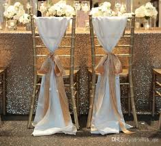 wedding chair sashes 2018 fashiontaffeta chair covers without chagne ribbon seqined decoration