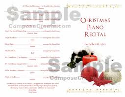 Christmas Program Templates Christmas Recital Program Package
