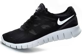 nike running shoes black and white. black white nike free run 2 men\u0027s running shoes and