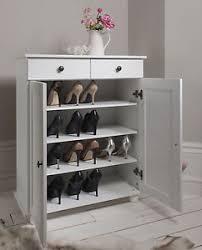 Shoe-Storage-Cabinet-Cupboard-with-2-Storage-Drawers-