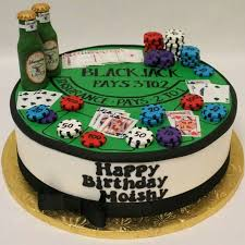 This message will display on the cake. Blackjack Cake Cake Co