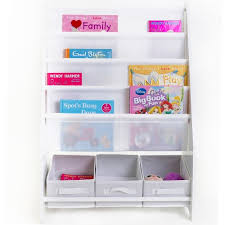 in home furniture style mia kids book display with 3 storage tubs