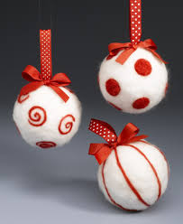 Decorating Christmas Ornaments Balls Short Cut Needle Felting Ornaments featuring Sharon from Crafts 'n 81
