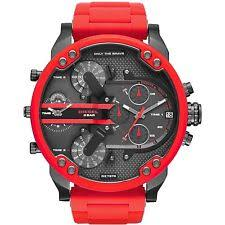 diesel watch men red dz7370 diesel mr daddy 2 0 red ion plated stainless steel mens watch